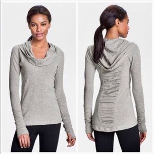 NWT Zella All Shirred Up Pullover Hoodie